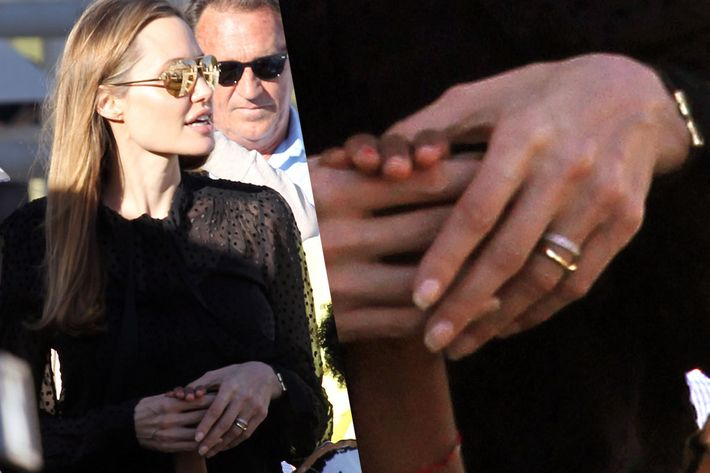 Angelina Is Wearing Two Wedding Bands Now