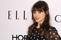 WEST HOLLYWOOD, CA - JANUARY 22:  Actress Zooey Deschanel attends ELLE's Annual Women in Television Celebration  at Sunset Tower on January 22, 2014 in West Hollywood, California.  (Photo by Angela Weiss/Getty Images)