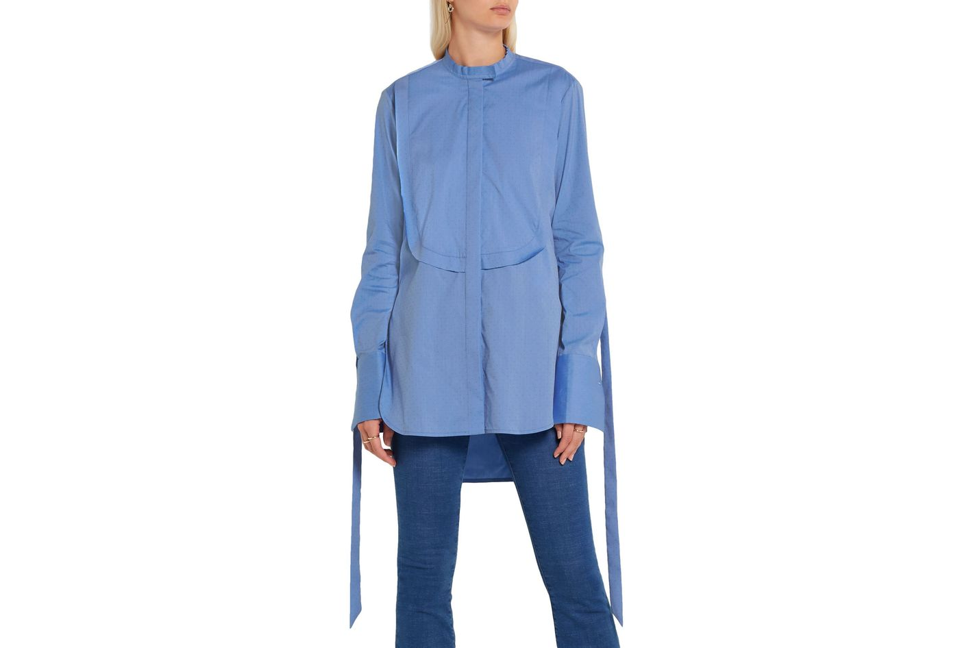 Ellery Melodrama Swiss-dot cotton-blend poplin shirt