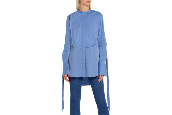 Ellery Melodrama Swiss-dot cotton-blend poplin shirt