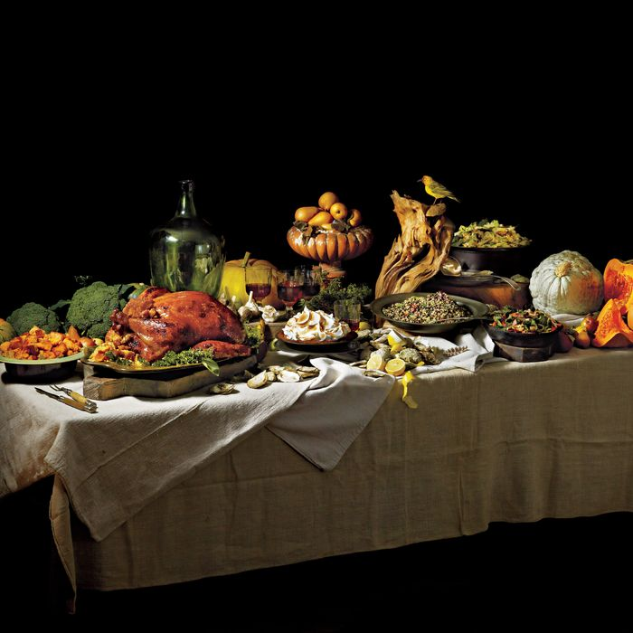 A Thanksgiving spread.