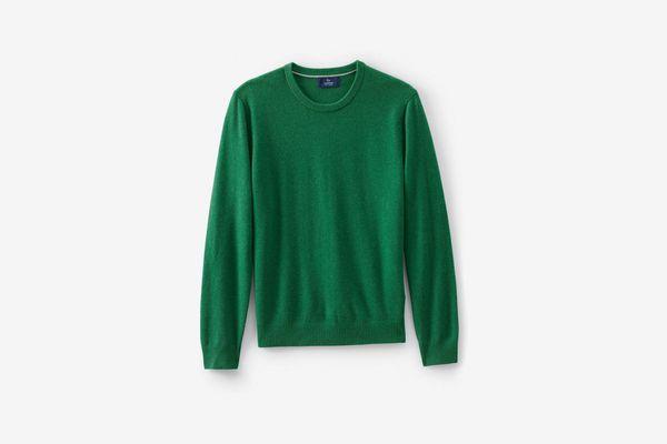 Lands' End Men's Fine Gauge Cashmere Crewneck Sweater