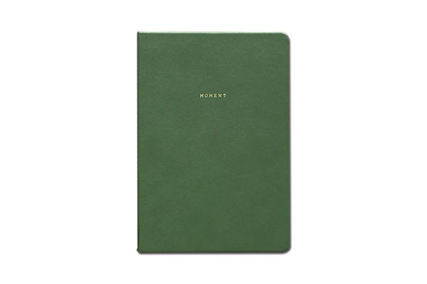"""Moment"" Leather Blank Journal"