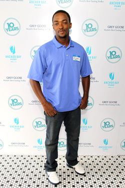 "NEW YORK, NY - SEPTEMBER 16:  Actor Anthony Mackie attends ""10 Years"" brunch reunion event hosted by GREY GOOSE Vodka And Anchor Bay Films at Hotel Chantelle on September 16, 2012 in New York City.  (Photo by Neilson Barnard/Getty Images  for GREY GOOSE)"