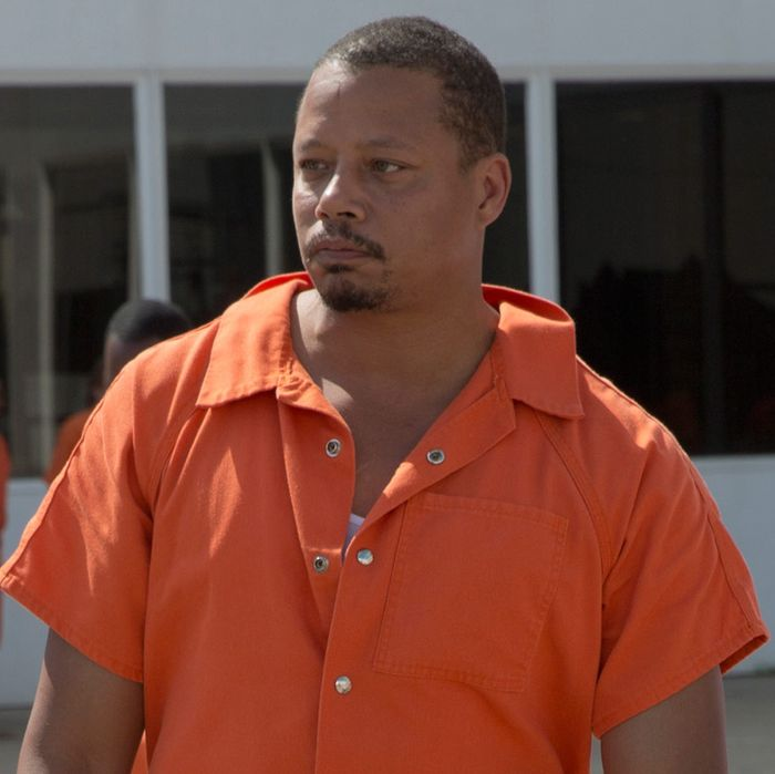 """EMPIRE: Pictured L-R: Guest star Ludacris (Chris Bridges) as Officer McKnight and Terrence Howard as Lucious Lyon in the """"Without A Country"""" episode of EMPIRE airing Wednesday, Sept. 30 (9:00-10:00 PM ET/PT) on FOX. ©2015 Fox Broadcasting Co. Cr: Chuck Hodes/FOX."""