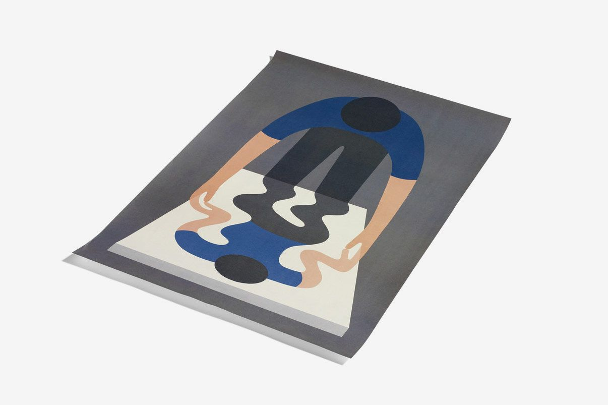 Geoff McFetridge + Hay 1 Blue Poster