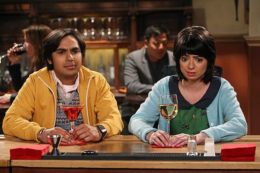 """The Love Spell Potential"" -- Koothrappali (Kunal Nayyar) and Lucy (Kate Micucci) go on a very awkward date, on THE BIG BANG THEORY, Thursday, May 9 (8:00 ???€?"" 8:31 PM, ET/PT) on the CBS Television Network. Photo: Monty Brinton/CBS ?'??2013 CBS Broadcasting Inc. All Rights Reserved"