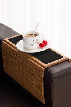 Bamboo Wood Sofa Arm Tray Table