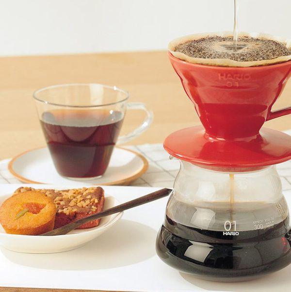 Hario V60 Ceramic Coffee Dripper, Red