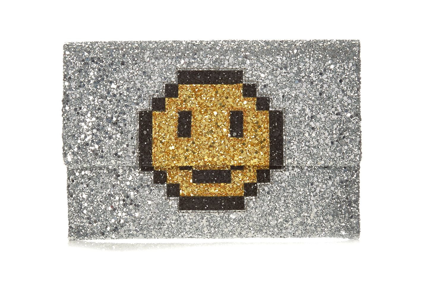 Anya Hindmarch Pixel Smiley Clutch