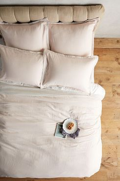 Relaxed Cotton-Linen Duvet Cover, Queen