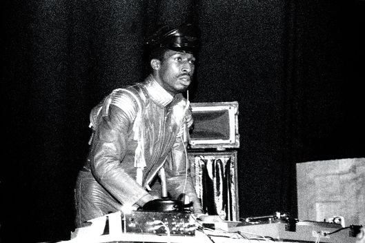 UNITED KINGDOM - MAY 12:  Photo of GRANDMASTER FLASH; Grandmaster Flash The Venue, London, UK 12-5-1982  (Photo by David Corio/Redferns)