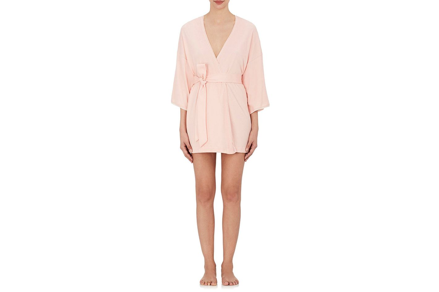 Skin Pima Cotton Jersey Short Robe