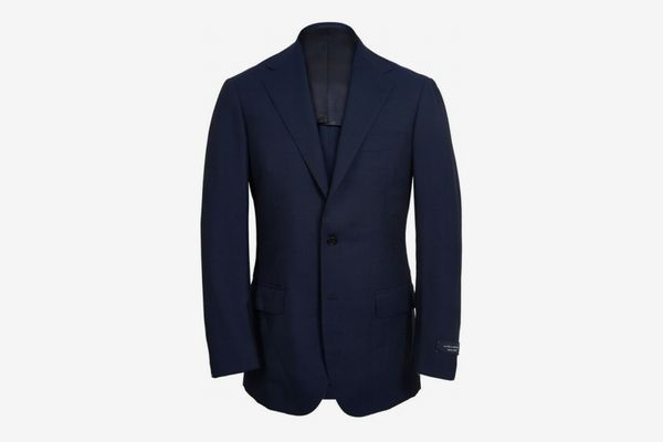 Ring Jacket Navy Calm Twist Wool Suit