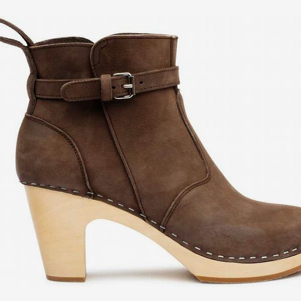 High-Heeled Jodhpur in Chocolate Brown Nubuck - strategist best High heel brown nubuck boot with buckle strap