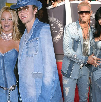 Katy Perry Dressed Up Like All Denim Britney Spears