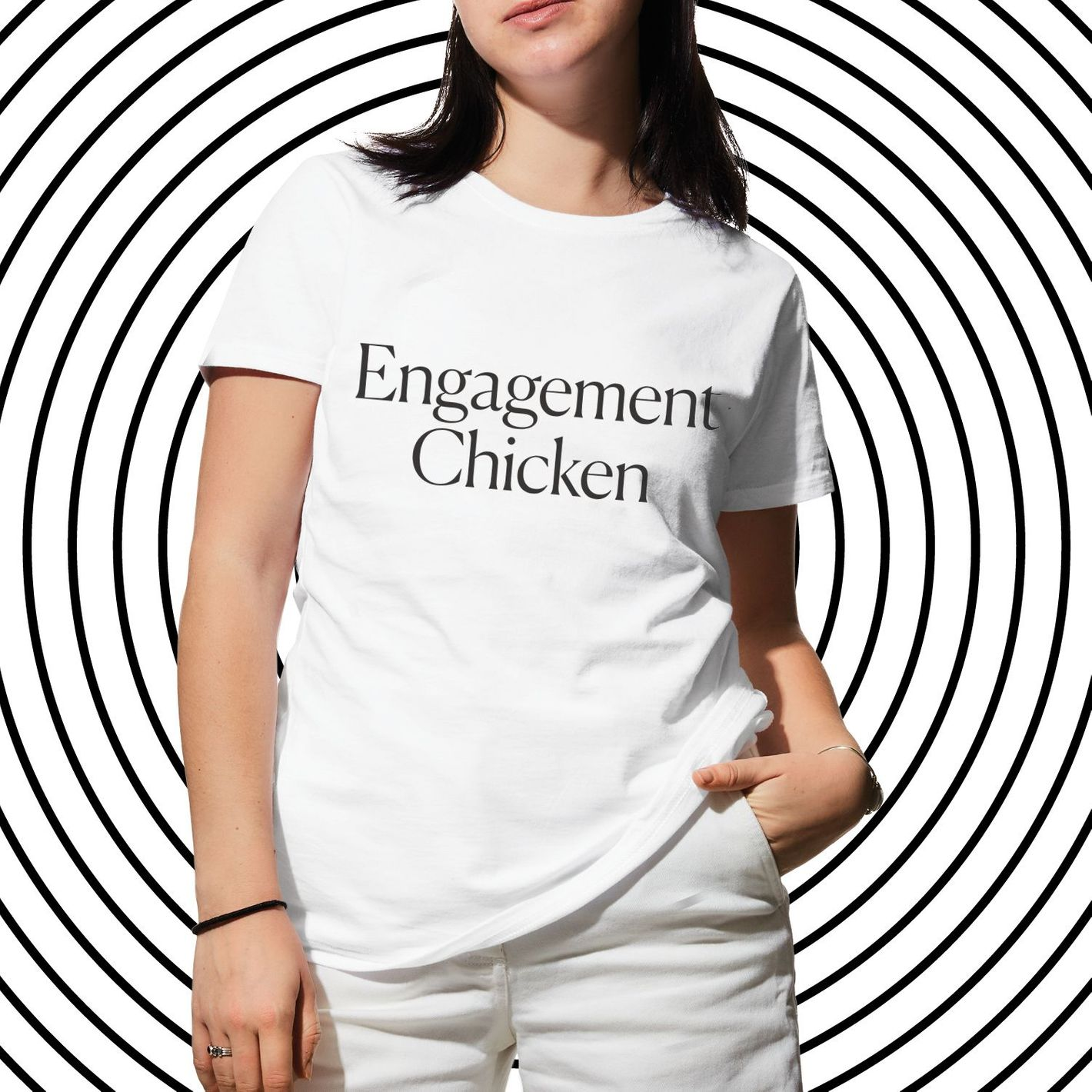 Engagement Chicken Tee