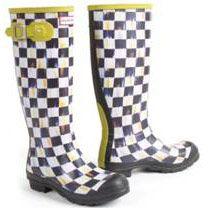 Mackenzie-Childs Hunter boots.
