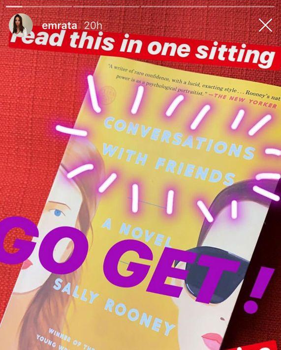 Emily Ratajkowski Instagram story.