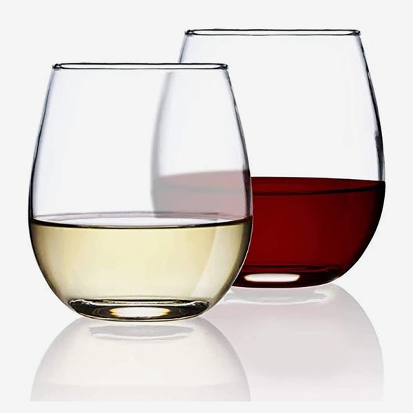 Chef's Star Stemless Wine Glasses Set of 2