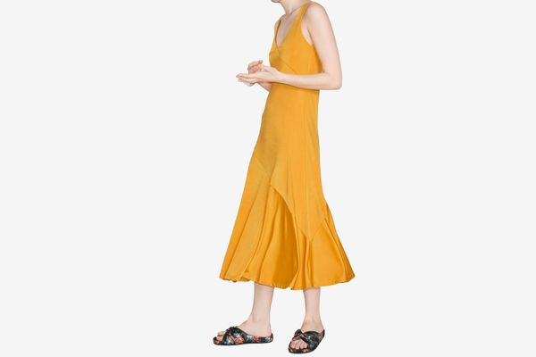 Asymmetrical Flowy Midi Dress