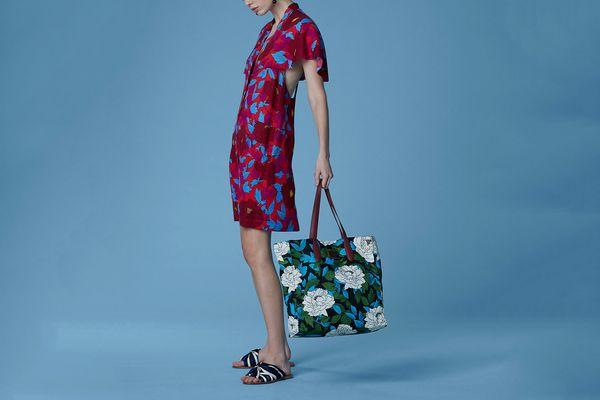 Diane von Furstenberg Short-Sleeve Open Back Dress, Boswell Geranium