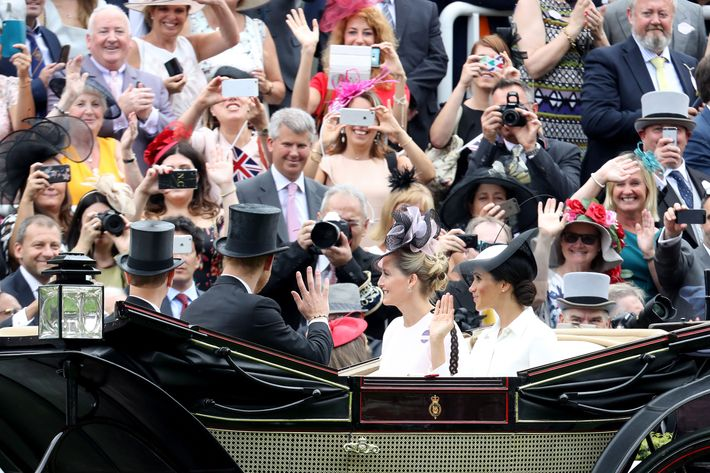 Meghan Markle arriving at Royal Ascot.