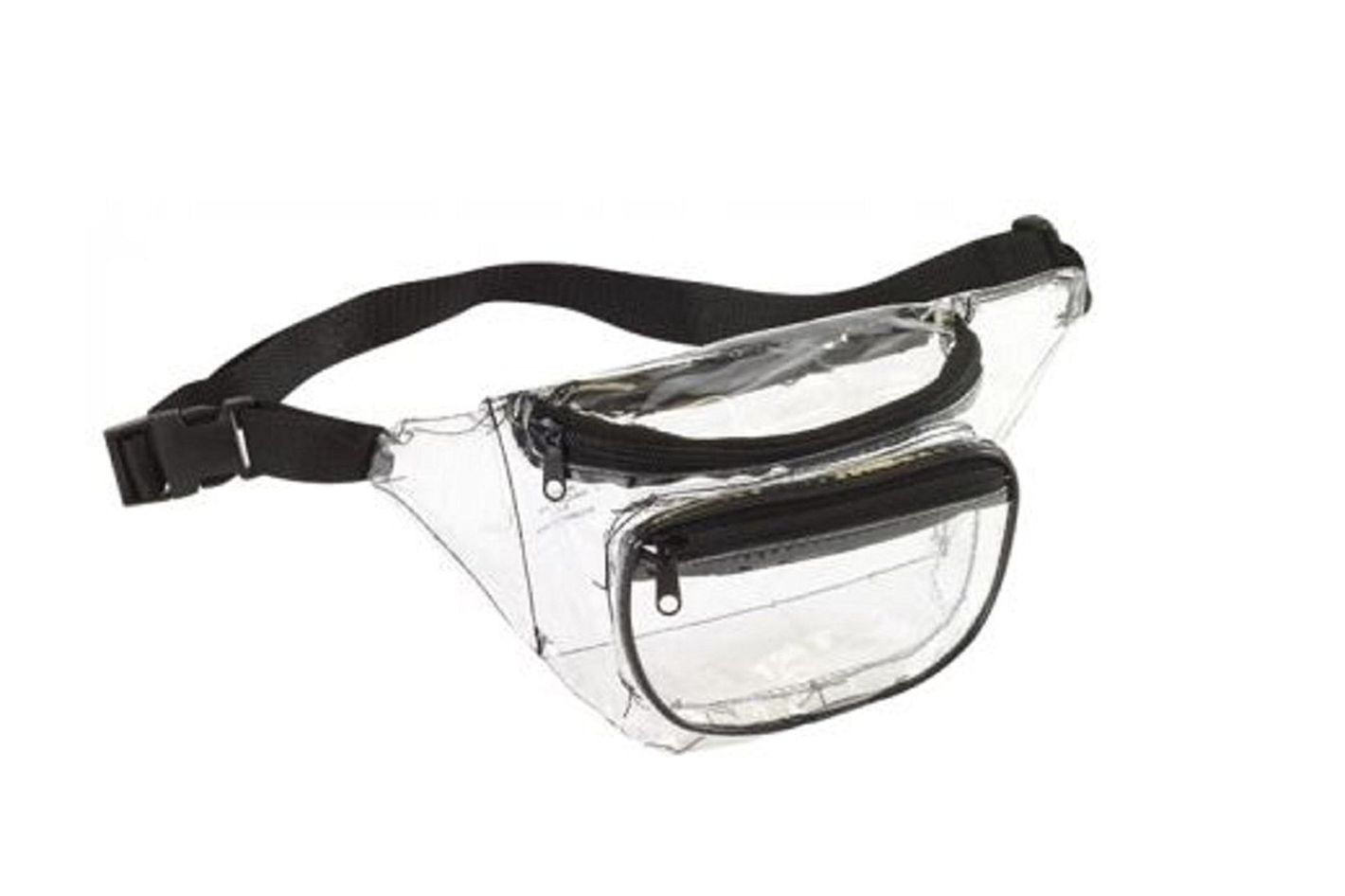 Clear Fanny Pack w/ 3 Pockets & Waist Strap