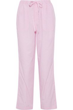 Sleepy Jones Gingham Cotton-Poplin Pajama Pants