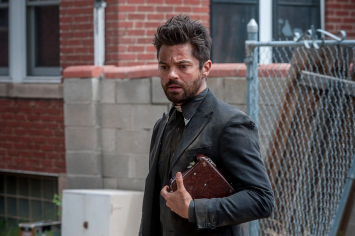 Dominic Cooper as Jesse Custer - Preacher _ Season 1, Episode 8 - Photo Credit: Lewis Jacobs/Sony Pictures Television/AMC