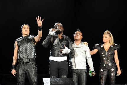 "Taboo, will.i.am, apl.de.ap and Fergie of the Black Eyed Peas   perform onstage during CHASE Presents The Black Eyed Peas and Friends ""Concert 4 NYC"" benefiting the Robin Hood Foundation at Central Park, Great Lawn on September 30, 2011 in New York City."