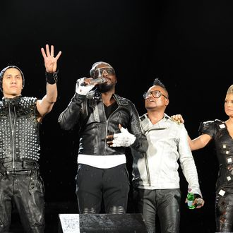 Taboo, will.i.am, apl.de.ap and Fergie of the Black Eyed Peas perform onstage during CHASE Presents The Black Eyed Peas and Friends