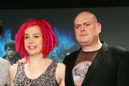 Lana Wachowski and Andy Wachowski, Jan 24, 2013 : Cloud Atlas Press Conference in Tokyo, January 24th, 2013.  Directors Lana Wachowski and Andy Wachowski promote their new sci-fi movie Cloud Atlas in Tokyo, prior to its Japanese cinema release set for March 15th, 2013. (Photo by Daiju Kitamura)