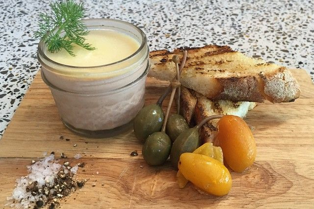 Hot's Kitchen's mason jar of foie.