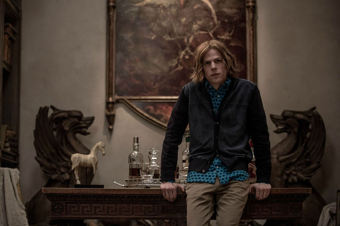 A still of Lex Luthor from the movie
