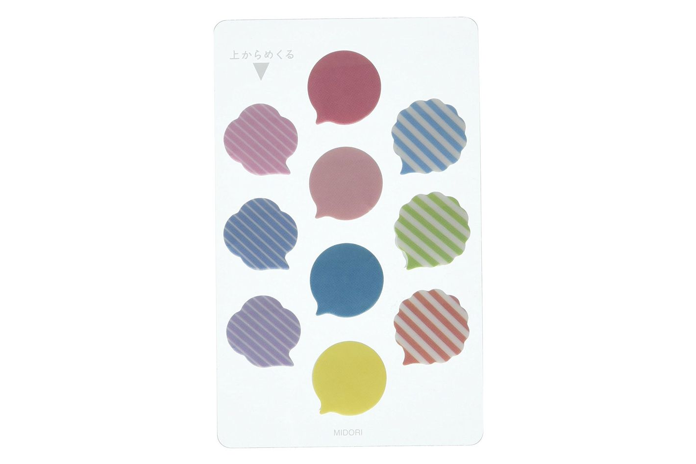 Midori Mini Sticky Note, Film Fusen Comment Bubble