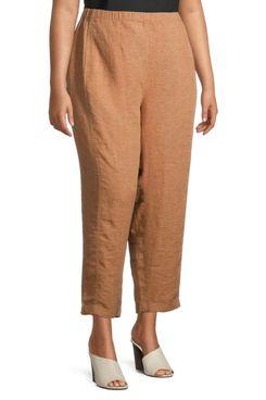 Eileen Fisher Plus Lantern Linen Pants