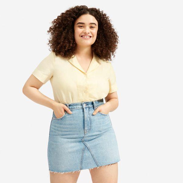 Everlane Reconstructed Denim Skirt