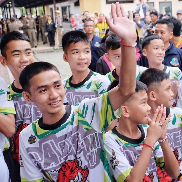 Thai soccer team.