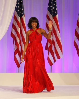 Michelle Obamas Inauguration Gown Jason Wu