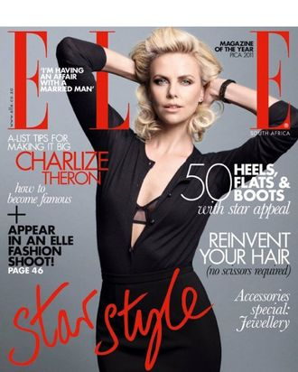 Charlize Theron for <em>Elle</em> South Africa.