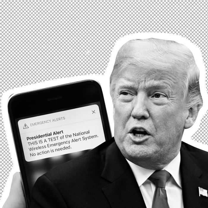 A cell phone, Trump.