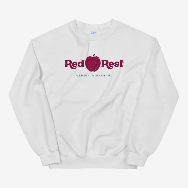 Yesteryear Wear Red Apple Rest Crew Neck Unisex Sweatshirt
