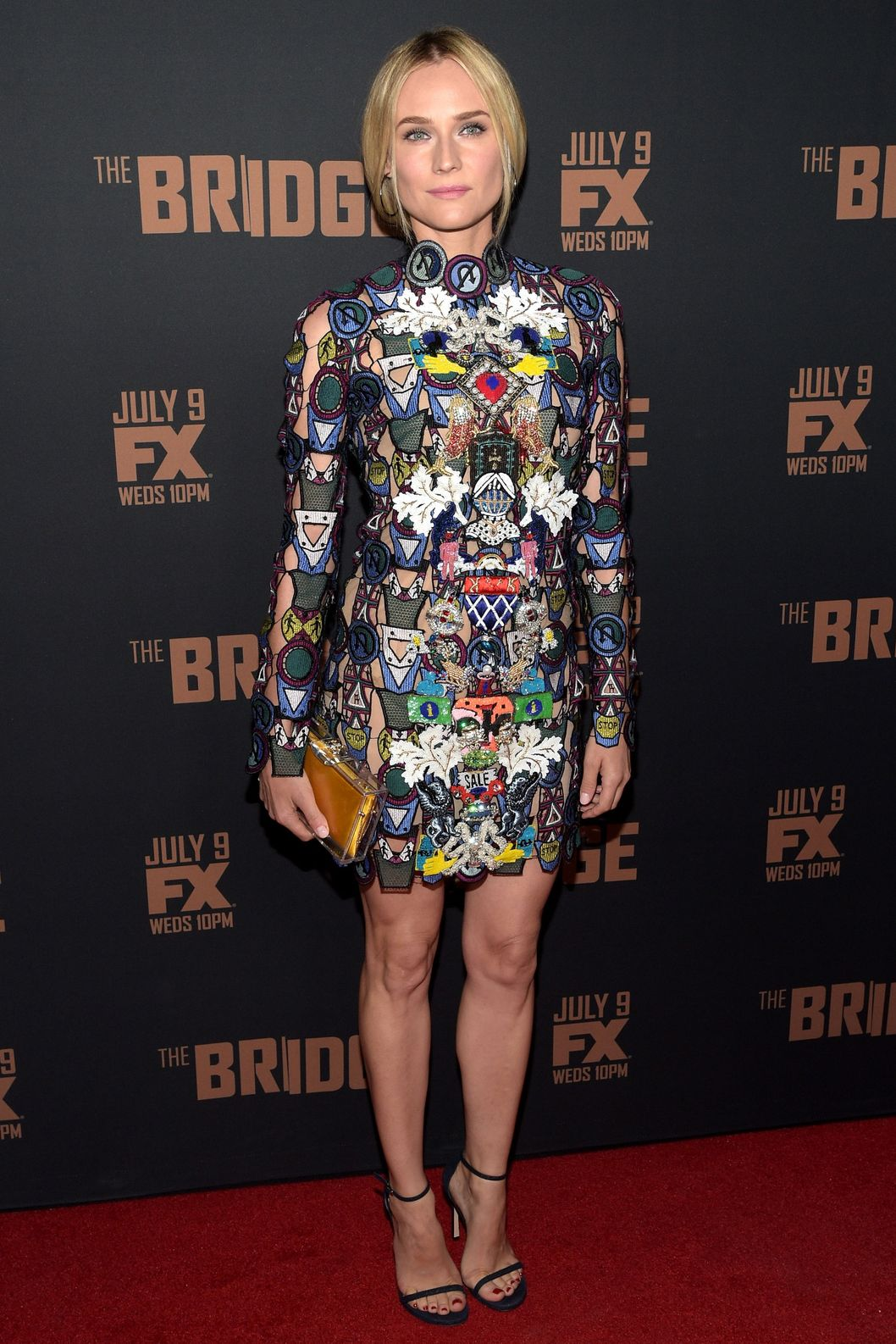 "WEST HOLLYWOOD, CA - JULY 07:  Actress Diane Kruger attends the premiere of FX's ""The Bridge"" at Pacific Design Center on July 7, 2014 in West Hollywood, California.  (Photo by Jason Kempin/Getty Images)"