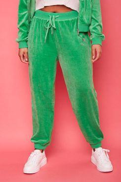 Plus Size Rhinestone Juicy Couture Velour Joggers