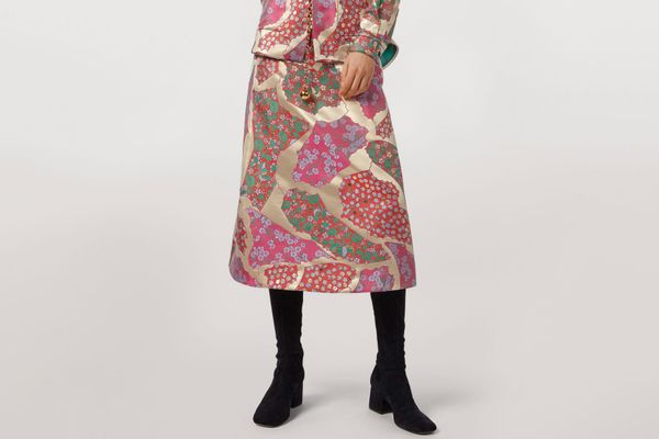 Marni Flared Skirt in Brocade Patchwork