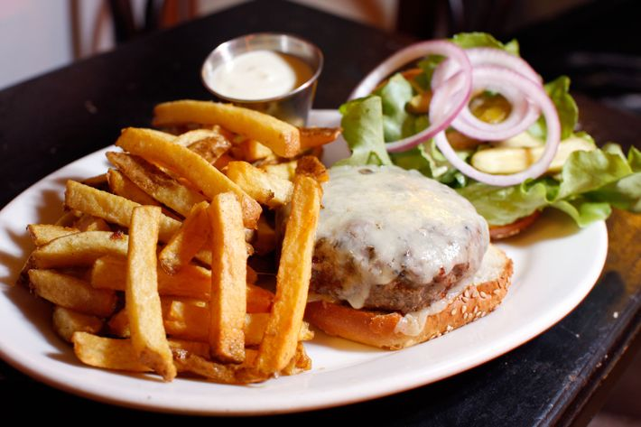 Diner's beloved dry-aged burger, available until 1 a.m. on Friday and Saturday.