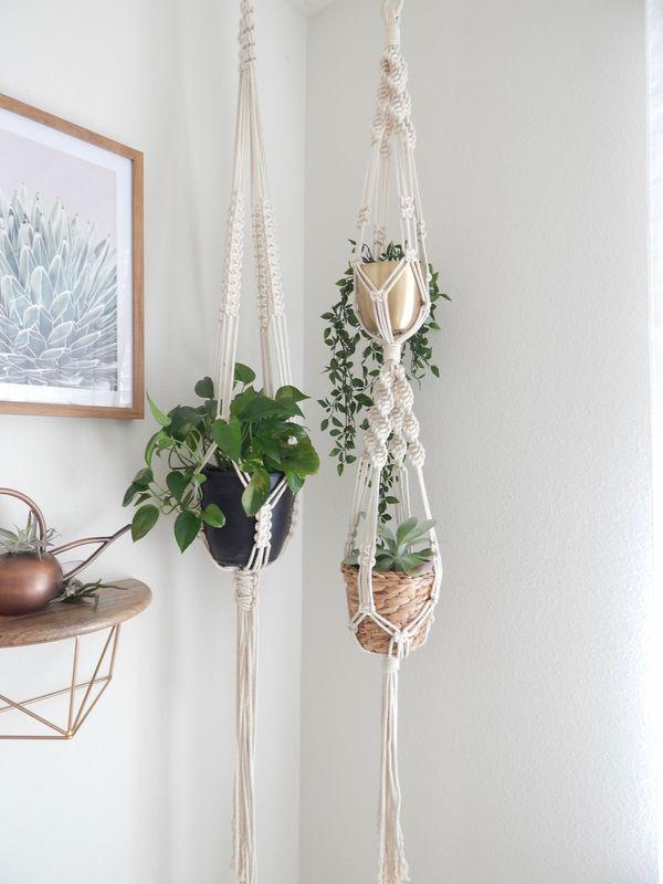 Double Macramé Plant Hanger