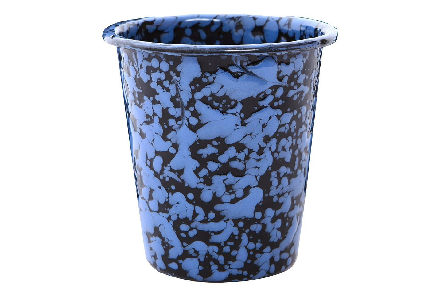 Crow Canyon Enamelware Short Tumbler — Purple-Black Marble