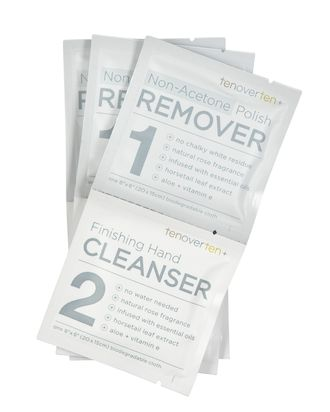 Tenoverten's best, stink-free nail polish remover wipe is the best.